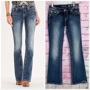 Miss Me signature boot flare jeans angel wings 28